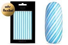 Jolifin LAVENI XL Sticker - Stripes neon-blue flash