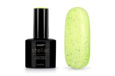 Jolifin LAVENI Shellac - Sand-Effect neon-lemon 12ml