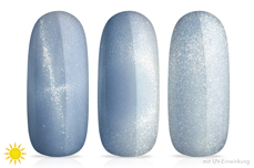 Jolifin LAVENI Shellac - Solar Cat-Eye blue 12ml