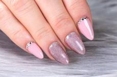 Jolifin LAVENI Shellac - Diamond Cat-Eye peach 12ml