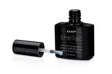 Jolifin LAVENI Shellac - Top-Coat super matt ohne Schwitzschicht milky black flakes 12ml