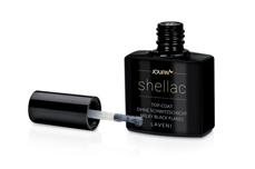 Jolifin LAVENI Shellac - Top-Coat ohne Schwitzschicht milky black Flakes 12ml