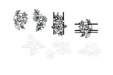 Jolifin LAVENI XL Sticker - black & white Nr. 10