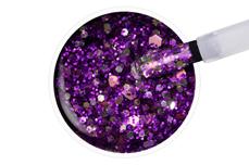 Jolifin LAVENI Shellac - purple ice cream Glitter 12ml