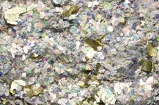 Jolifin LAVENI Foil Flakes Glitter - gold & grey