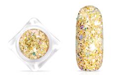 Jolifin Hexagon Glitter - golden champagne