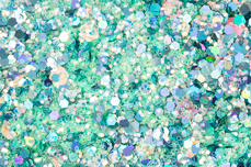Jolifin Hexagon Glitter - icy türkis