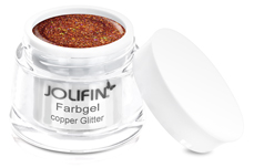 Jolifin Farbgel 4plus copper Glitter 5ml