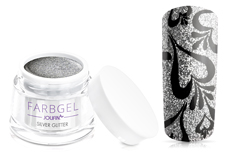 Jolifin Farbgel 4plus silver Glitter 5ml