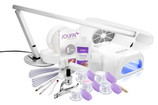 Original Jolifin 4plus Nagelstudio-Komfort Set weiß