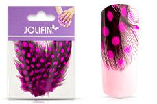 Jolifin Nailart Feder pink leopard