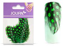 Jolifin Nailart Feder green leopard