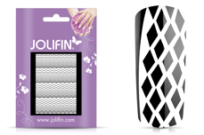 Jolifin Fancy Nail Sticker white 1