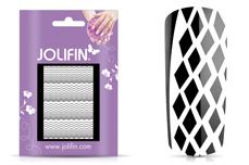 Jolifin Fancy Nail Sticker white 1