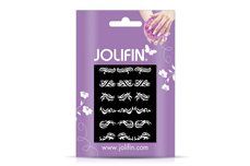 Jolifin Fancy Nail Sticker white 5