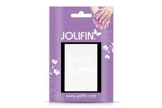 Jolifin Fancy Nail Sticker white 7