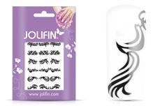 Jolifin Fancy Nail Sticker black 5