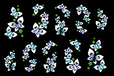 Jolifin Brillant Flower Nail Sticker 1