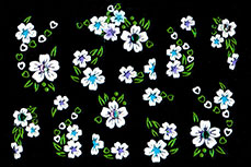 Jolifin Brillant Flower Nail Sticker 2