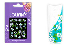 Jolifin Brillant Flower Nail Sticker 3