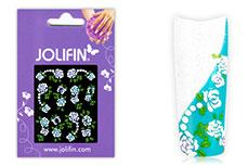 Jolifin Brillant Flower Nail Sticker 3