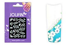 Jolifin Brillant Flower Nail Sticker 8