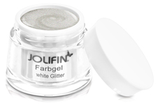 Jolifin Farbgel 4plus white Glitter 5ml