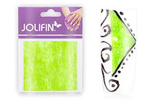 Jolifin Nailart painted sheet green