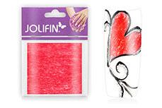 Jolifin Nailart painted sheet red