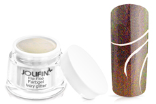 Jolifin Flip-Flop Farbgel 4plus ivory glitter 5ml