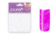 Jolifin Nailart spiderweb white