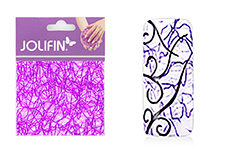 Jolifin Nailart spiderweb purple