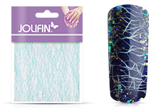 Jolifin Nailart spiderweb light blue