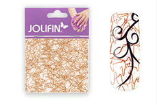 Jolifin Nailart spiderweb brown