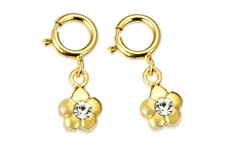 Jolifin Nagel-Piercing Blume gold