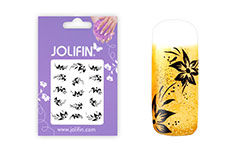 Jolifin Nailart Tattoos black and white Nr. 5