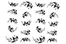 Jolifin Nailart Tattoos black and white Nr. 5