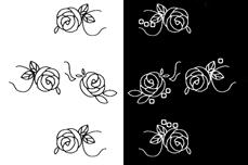 Jolifin Nailart Tattoos black and white Nr. 8