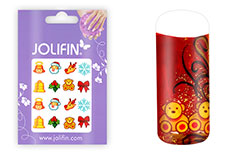 Jolifin X-Mas Nailart Tattoo Nr. 4