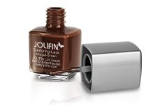 Jolifin Stamping-Lack - nougat-brown 12ml