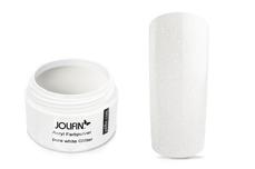 Jolifin Acryl Farbpulver - pure white Glitter 5g
