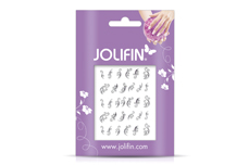 Jolifin Nailart Jewelry Sticker silver 1