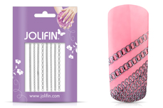 Jolifin Nailart Jewelry Sticker silver 2