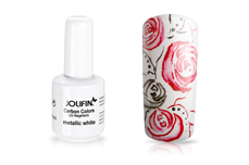 Jolifin Carbon Colors UV-Nagellack metallic white 11ml