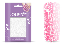 Jolifin Cracked Nailart Folie white 2