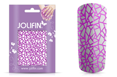 Jolifin Cracked Nailart Folie purple 1
