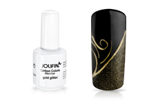 Jolifin Carbon Effect-Coat gold glitter 14ml