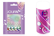 Jolifin Fancy Nail Sticker silver rainbow 3