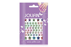 Jolifin Fancy Nail Sticker silver rainbow 4