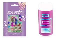 Jolifin Fancy Nail Sticker silver rainbow 6
